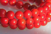 Coral red necklace — Stock Photo