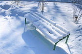 Bench in winter — Stock Photo