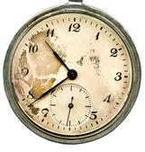 Vieille montre de poche isolée — Photo