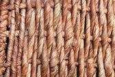 Basket wickerwork close up — Stock Photo