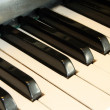 Piano key close up — Stock Photo