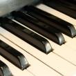 Piano key close up — Stock Photo