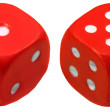 Red dice — Stock Photo #5376565
