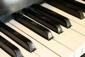Piano sleutel close-up — Stockfoto