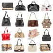 Stock Photo: Female leather handbags on white background