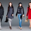 Autumn winter collection lady's clothes — Stock Photo
