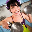 Crazy housewife — Stockfoto #4744230