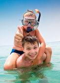 Two boys on a beach — Stock Photo