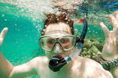 Snorkeler. Red sea — Stock Photo