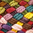 Multi colored woollen yarns — Stock Photo #5117441