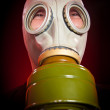 Person in a gas mask — Stock Photo