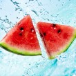 Watermelon and water — Stock Photo