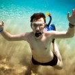 Snorkeler. Red sea — Stock Photo #5223989