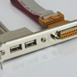 Stock Photo: USB ports controler card