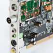 Stock Photo: Internal computer board TV tuner