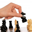 Playing chess — Stockfoto