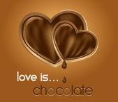 Chocolate hearts. — Stock Vector