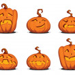 Stock Vector: Helloween pumpkin