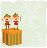 Christmas Elves — Stock Vector