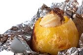 Baked potato in foil — Stock Photo