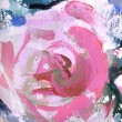 Stock Photo: Rose, fragment of painting