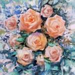 Beautiful orange roses — Stock Photo