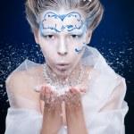 Ice queen portrait — Stock Photo