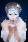 Ice queen portrait — Stock Photo