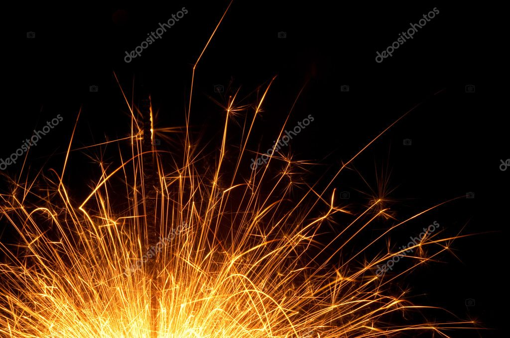 Sparks industry on a black background  Stock Photo #5022993