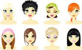 Avatar Icon Women — Stock Vector