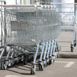 Empty commodity carts — Stock Photo #3946733