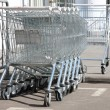 Empty commodity carts — Stock Photo