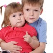Brother and the sister — Stock Photo