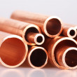 Copper pipes — Stok fotoğraf