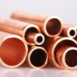 Copper pipes — Stock fotografie