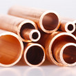 Set of copper pipes — Foto Stock