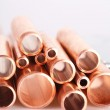Set of copper pipes — Stock Photo