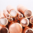 Set of copper pipes — Stock fotografie