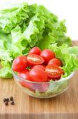 Tomate e alface — Foto Stock