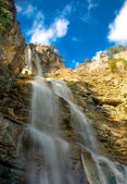 Waterfalls in mountains. — Stock Photo