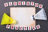 Badminton practice — Stock Photo