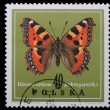 Poland - CIRCA 1967: A stamp - Vanessa urticae - Stock Photo