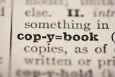 Word copybook — Stock Photo