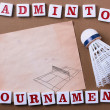 Постер, плакат: Badminton tournament