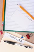 Contracts folder — Stock Photo