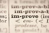 Mejorar la palabra — Foto de Stock
