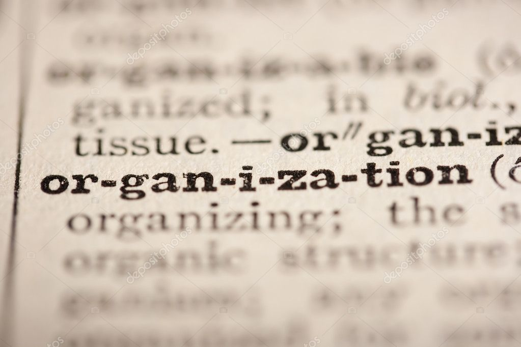 Word organization from the old dictionary, a close up. — Stock Photo #4255610