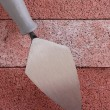 Stonemason&#039;s trowel - Foto Stock