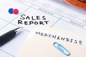 Sales report meeting — Stock Photo