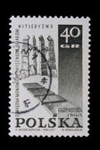 Poland - CIRCA 1967: A stamp - Nazism — Stock Photo